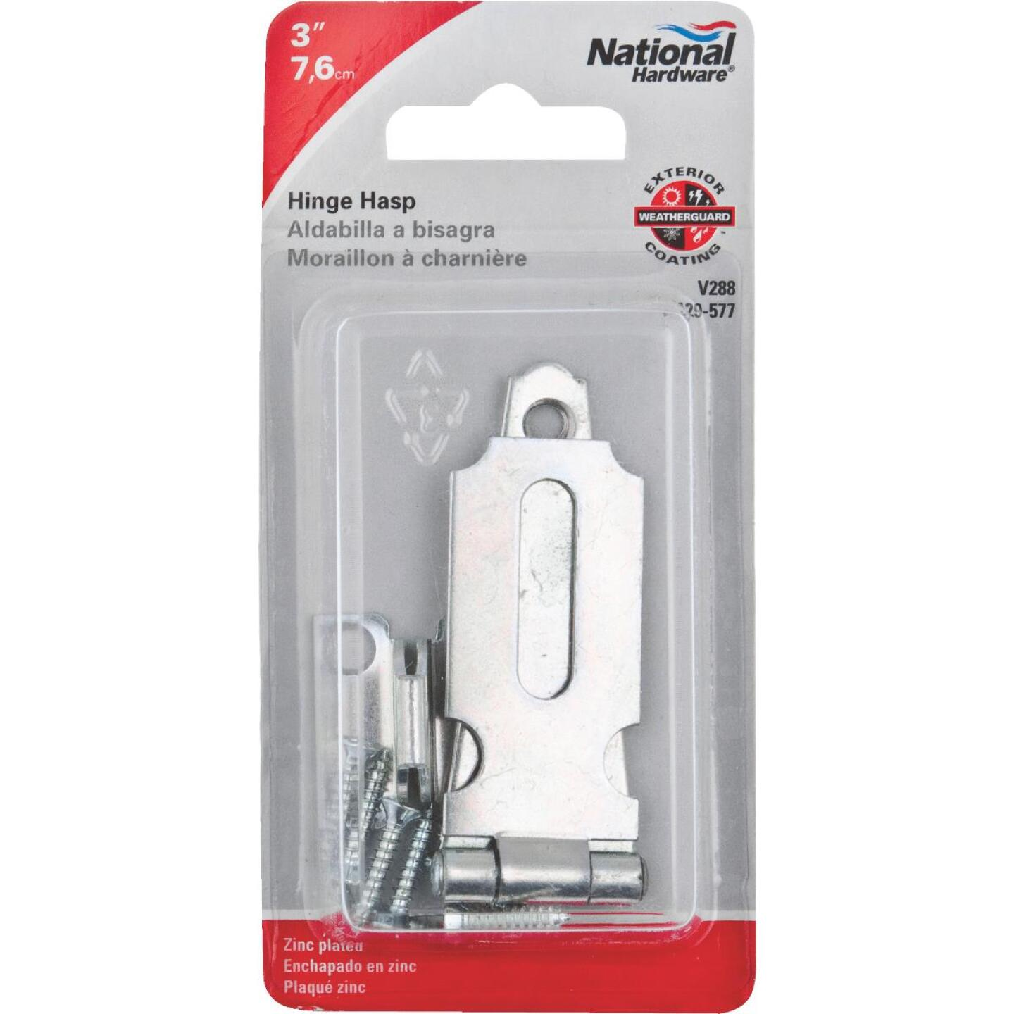 National 3 In. Steel Hinge Hasps Image 2
