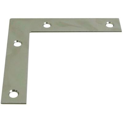 National Catalog 117 4 In. x 3/4 In. Zinc Flat Corner Iron