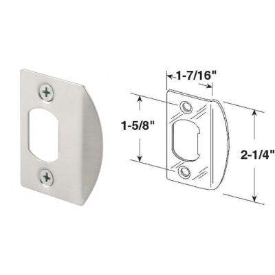Defender Security Satin Nickel 1-3/4 In. Strike Plate
