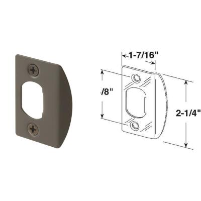 Defender Security Bronze 1-3/4 In. Strike Plate