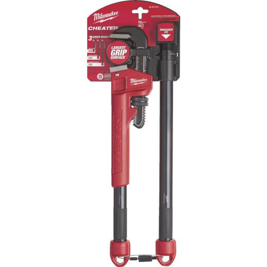 Milwaukee Cheater 10 In. to 24 In. Steel Adaptable Pipe Wrench