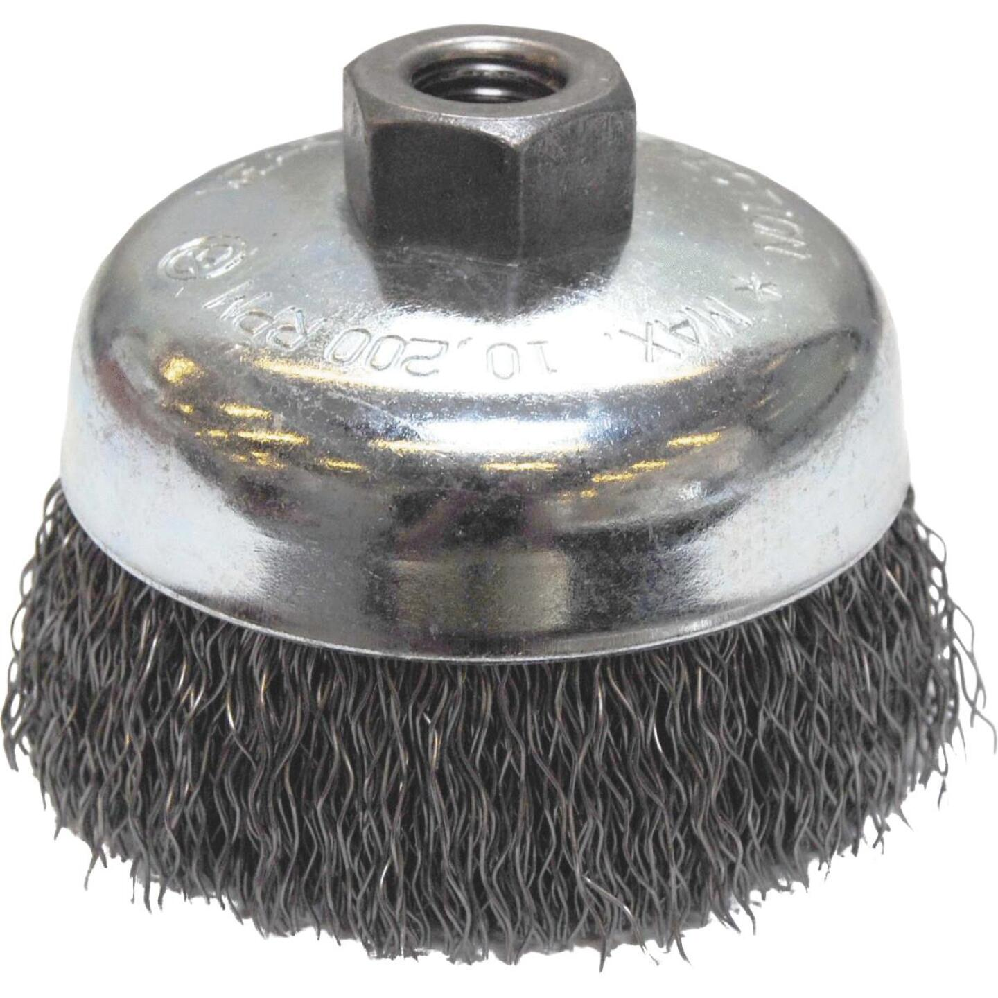 Weiler Vortec 4 In. Crimped 0.02 In. Angle Grinder Wire Brush Image 1