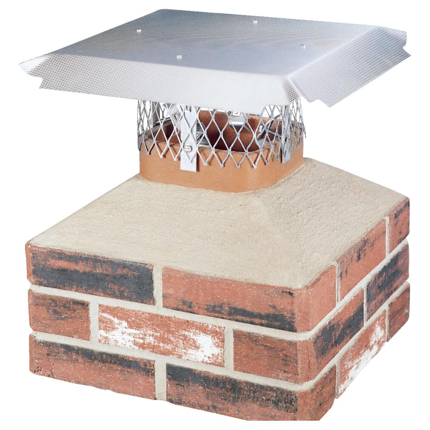 HY-C DuroShield Multi-Fit Aluminum Chimney Cap for Large Flue Image 1