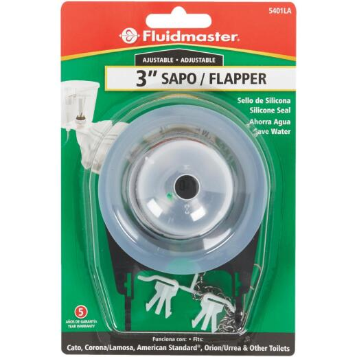 Fluidmaster 3 In. Adjustable Cato Replacement Flapper