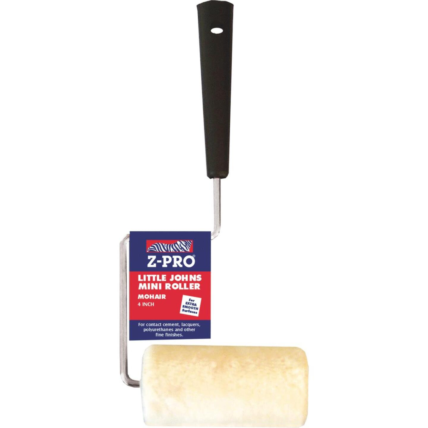 Premier Z-Pro 4 In. x 1/4 In. Smooth Mohair Paint Roller Cover & Frame Image 1